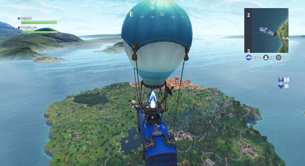 I giocatori arrivano sull'isola di Fortnite così: con un bus volante