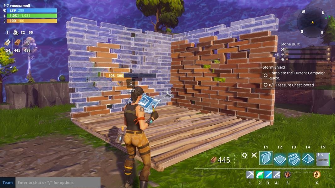 Fortnite: costruire muri, rampe e piattaforme