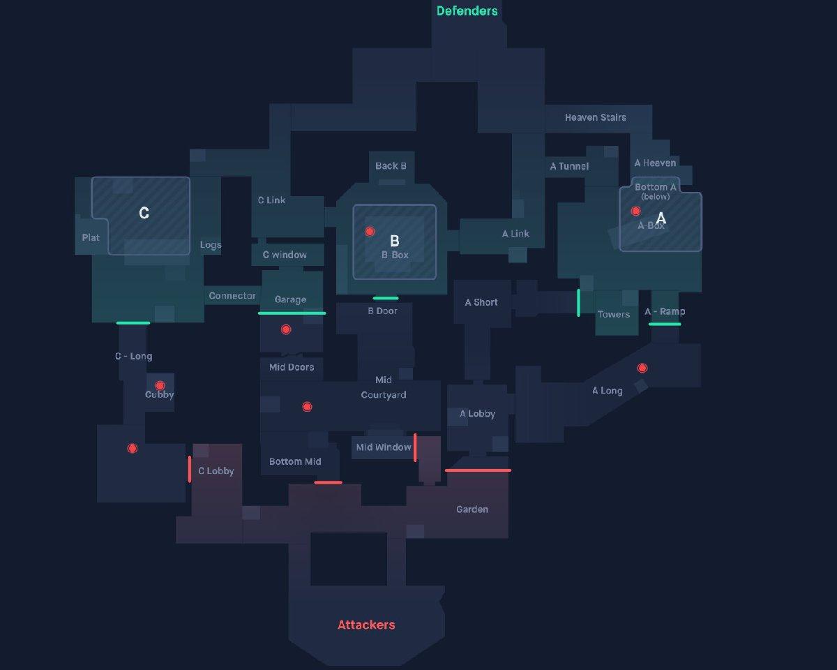 Le mappe di Valorant