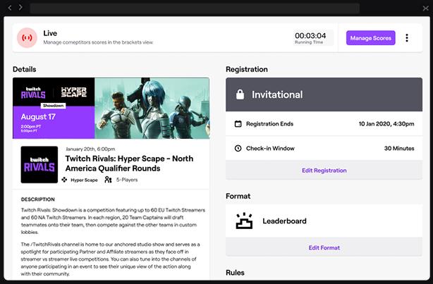 Twitch lancia Versus, una suite di strumenti per organizzare tornei eSports