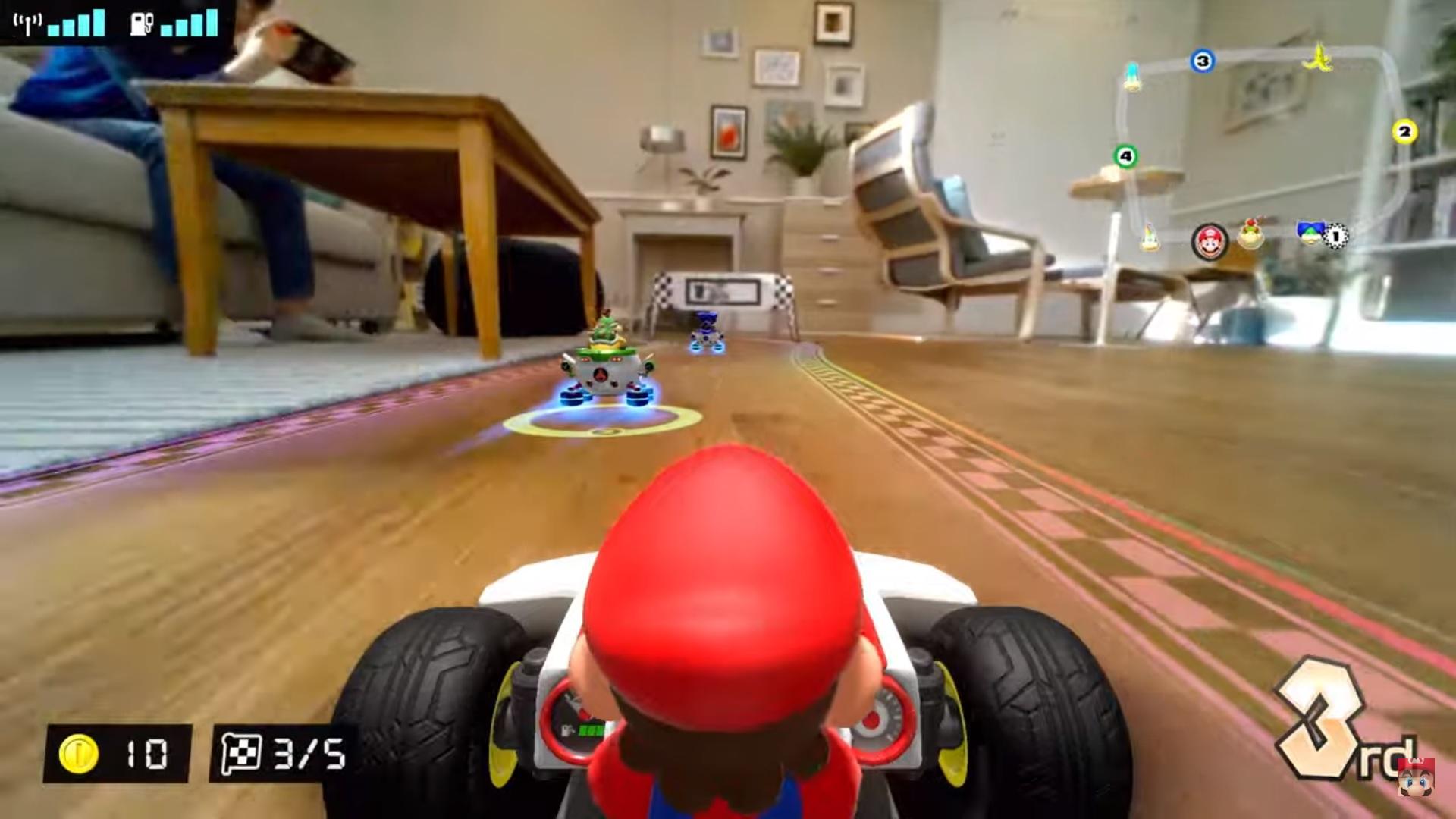 I kart di Super Mario corrono in casa grazie alla realtà aumentata
